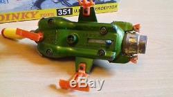 Vintage Dinky Toys No 351 UFO SHADO Interceptor Gerry Anderson Space Scarlet