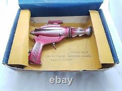 Vintage Eagle Dan Dare Lone Star diecast Cap Firing Space Gun Boxed rare toy