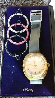 Vintage Ermano Lunarama Space Watch in Box Moon Walk Super Cool