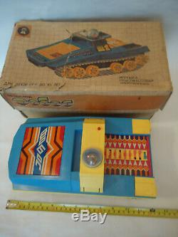 Vintage Extremely Rare USSR Soviet FOBOS Cosmos Battery Space Rover Toy + Box