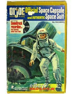 Vintage GI Joe Pilot Official Space Capsule withGummy Head Astronaut Figure & Box