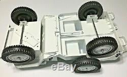 Vintage Gi Joe Hasbro 5 Star Jeep 7000 Custom Nasa White Jeep Space Jeep Nice