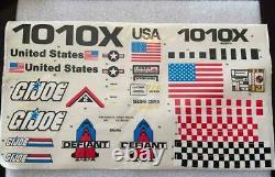 Vintage Hasbro GI Joe 1987 Defiant Space Vehicle Sticker Sheet Unused