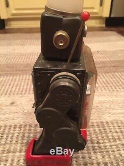 Vintage Horikawa Machine Gear Robot Japan Working Space Tin Toy Metal Yonezawa
