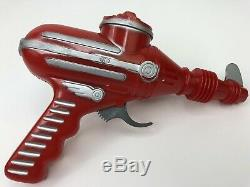 Vintage Ideal Red Atomic Space Blaster Toy Gun Buck Rogers Style