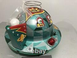 Vintage Japan Modern Toys Battery Op Satellite X-107 C 1950s Space Ship Working