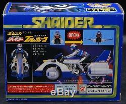 Vintage Japanese SHAIDER motorcycle Space Sheriff Gavan chogokin toy MIB Bandai
