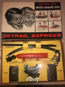 Vintage Jetrail Express Electric Monorail Train In Box