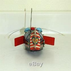Vintage KO Japan Tin Litho Space Whale Robot PX-3 Pioneer, Windup Toy, Works
