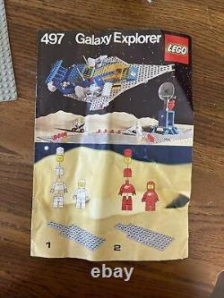 Vintage LEGO CLASSIC SPACE 497 GALAXY EXPLORER 1979 Complete Instructions NICE