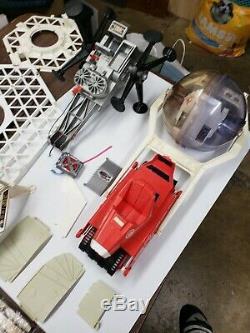Vintage Major Matt Mason LOT Space Station Crawler, United space bubble & more