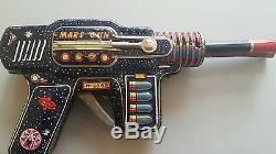 Vintage Mars Gun Japan H-2569 2 Barrel Tin Toy Space Ray Astronaut Cosmonaut