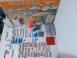Vintage Marx 4523 Project Apollo Playset Cape Kennedy Toy Space Rocket