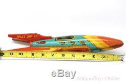 Vintage Masudaya Modern Toys (MT) Spaceship X-5 Japanese Tin Lithographed Rocket