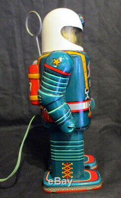 Vintage Masudaya Space Commando Robot Toy Electric Remote Rontrol Tin From JP