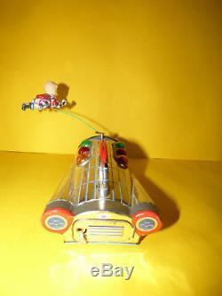 Vintage Masudaya U. S. A Nasa Apollo Space Ship Battery Operated Tin Toy Tested