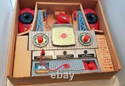 Vintage Merit Dan Dare Space Control Radio Station 1960's Boxed & Working