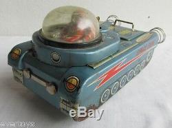 Vintage Modern Toys M-18 Space Tank, Motor Works, For Restore Repair Or Parts