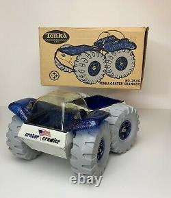 Vintage NO. 2546 TONKA CRATER CRAWLER W BOX & LOOKBOOK SPACE TOY NICE