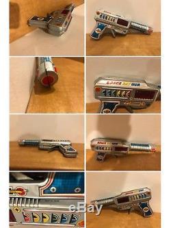 Vintage Nomura, MTU, Yonezawa, Space Ray Gun Collection With Packaging 1950 Rare