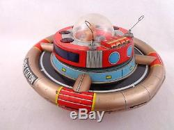 Vintage Nomura Planet-Y Space Station Battery Operated Tin Plate 1960s Toy Rare