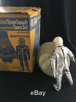 Vintage Original 1966 GI JOE Space Capsule With Box & Astronaut USA NASA Toy