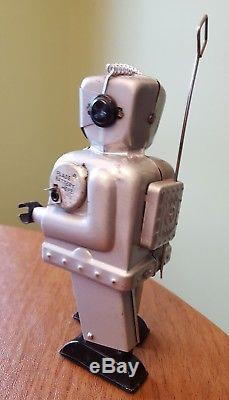 Vintage Original NOMURA SILVER ZOOMER ROBOT Space Toy JAPAN c1956 WORKS