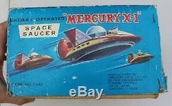 Vintage Rare Mego Yonezawa Mercury X-1 Battery Operated Space Ship Saucer Toy