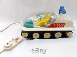 Vintage Rare Soviet Ussr Plastic Space Toy Mars Moonrover Battery Oper