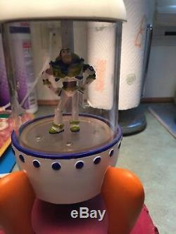 Vintage Rare Toy Story Buzz Lightyear Space Cadet Light Up Rocket Lamp Working
