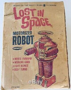 Vintage Remco Lost In Space Robot + Box 1966 Motorised