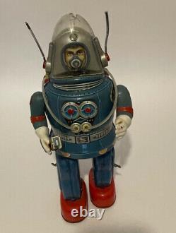 Vintage Rosko Nomura Astronaut Tin Toy Japan Space Robot Spaceman