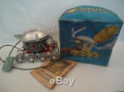 Vintage Russian Soviet MOON Walker Space Rover Lunochod Battery Remote Toy + Box