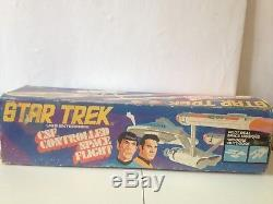Vintage STAR TREK uss ENTERPRISE controlled space flight 1976 remco burbank toys