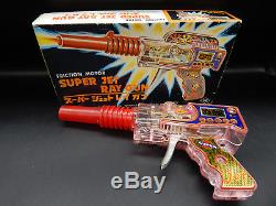 Vintage SUPER JET RAY GUN plastic RAYGUN outer space pistol friction toy YOSHIYA