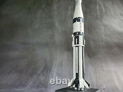 Vintage Saturn 1b Apollo 7 NASA 1144 Scale Wood Space Model Rocket Skylab