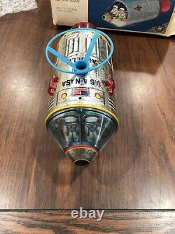 Vintage Space Capsule and floating astronaut TM Japan with box battery operated