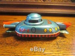 Vintage Space Robot SP 1 Tin Friction Japan Car Rocket Linemar Spaceship Toy