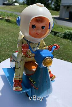 Vintage Space Scooter Battery Operated Japan Modern Toys with box Lights Work