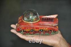 Vintage Space Tank VTI Mark Friction Litho Tin Toy, Japan