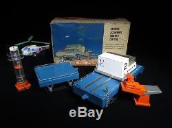 Vintage Tin Bandai Sears Space Scientific Survey Center Tank Car Robot Japan Box