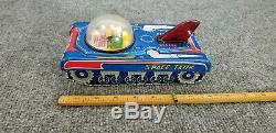 Vintage Tin Litho Friction Toy Space Tank V 7 Made In Japan