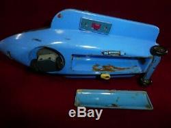 Vintage Tin Toy Masudaya Snoopy Space Patrol Japan Original