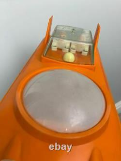 Vintage USSR Orange Plastic Toy Straume Soviet Lunokhod Spaceship Russian Space