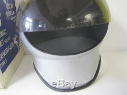 Vintage West Bay Imports Grey Astronaut Helmet Round Full Size Plastic Rare Toy