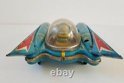 Vintage Yanoman Space Scout S-17 battery operated tin space toy Japan, spares