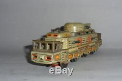 Vintage Yonezawa Military train Armored Train Japan tin friction toy