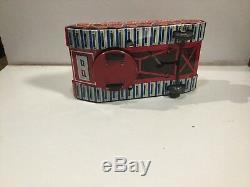 Vintage Yoshiya Japan Tinplate Clockwork Bump And Go Space Explorer Working