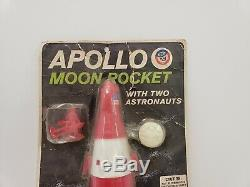Vintage plastic toy Apollo USA moon rocket by Processed Plastics IN PACKAGE