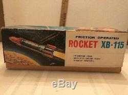 Vintage space toy friction operated XB-115 rocket space toy with rare box
